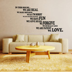 Family House Rule Wall Sticker