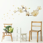 White Magnolia Wall Sticker