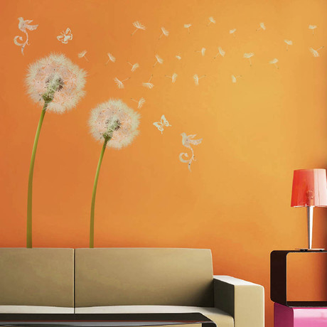 White Dandelion // Wall Sticker