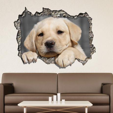 3D Window Labrador Retriever Wall Sticker