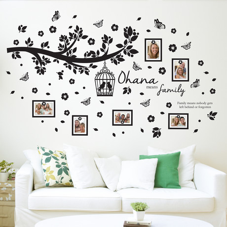 Family Photo Tree + Frame Wall Sticker