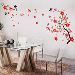 Red Blossom Flower Wall Sticker