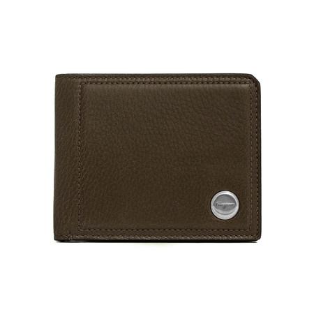 Salvatore Ferragamo // Grained Leather Bifold Wallet V1 // Brown