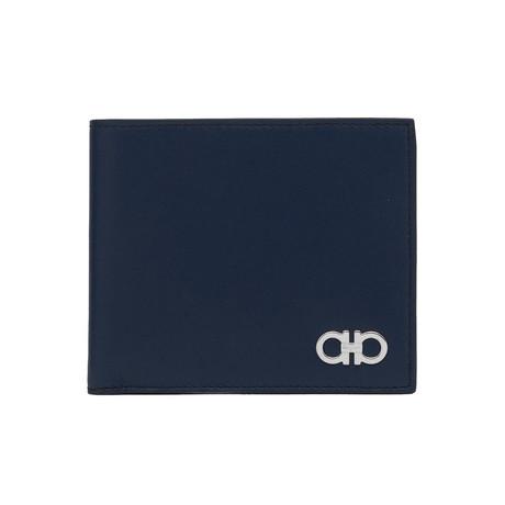 Salvatore Ferragamo // Smooth Leather Bifold Wallet // Blue