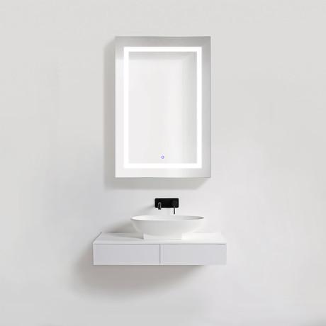 """LED Medicine Cabinet + Defogger + Dimmer + Outlets // 24""""L x 36""""W"""
