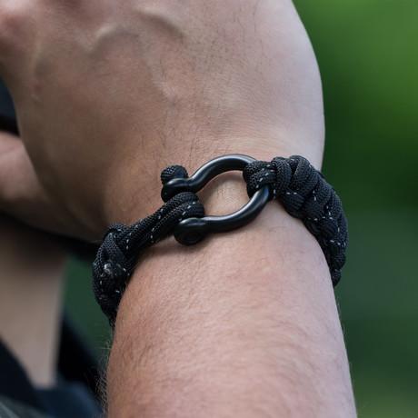 Bracelet // Black Reflective + Black Hardware (S)