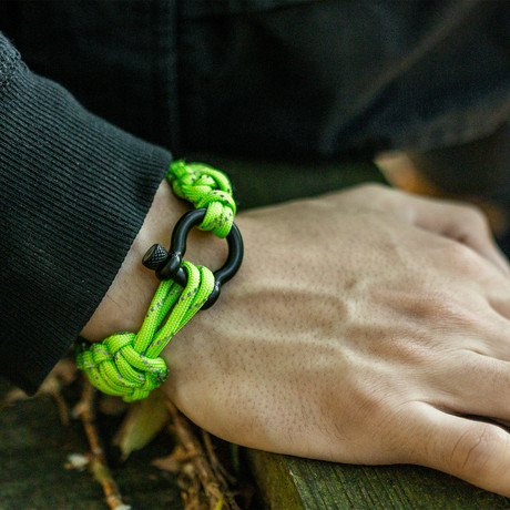 Bracelet // High Visibility Reflective + Black Hardware  (S)