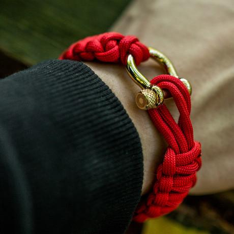 Bracelet //  Red + Gold Hardware (S)