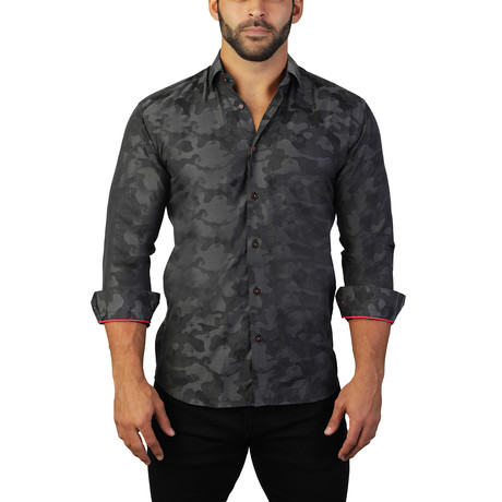 Fibonacci Armee Dress Shirt // Black (2XL)