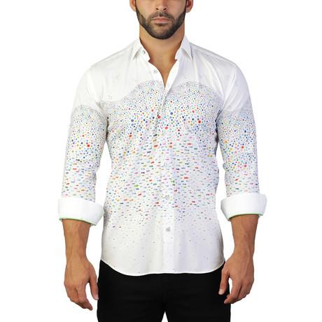 Fibonacci Fish Dress Shirt // White (S)