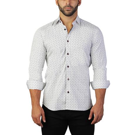 Fibonacci Flash Dress Shirt // White (S)
