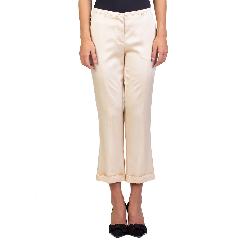 80ef565f076e7 Miu Miu // Acetate Viscose Blend Slim Fit Pants // Gold (US: 2P ...