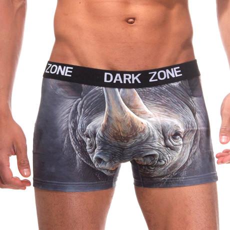 Rhino 3D Printed Boxer // Gray (S)