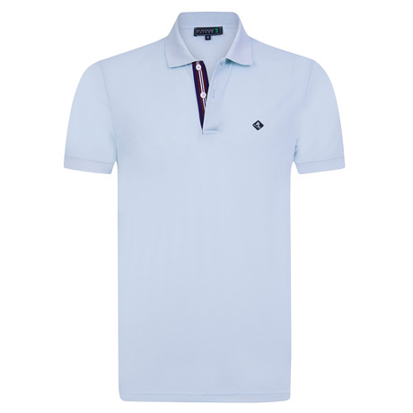 Compliment Short Sleeve Polo // Baby Blue (XS)