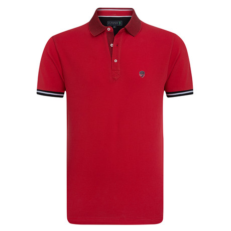 Knickers Short Sleeve Polo // Pomegranate (XS)