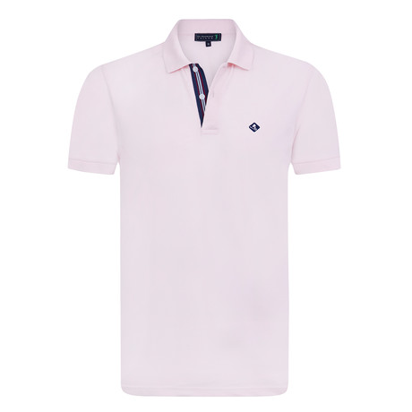 Compliment Short Sleeve Polo // Baby Pink (XS)