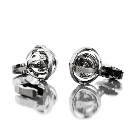 Gyro Cufflink // Silver