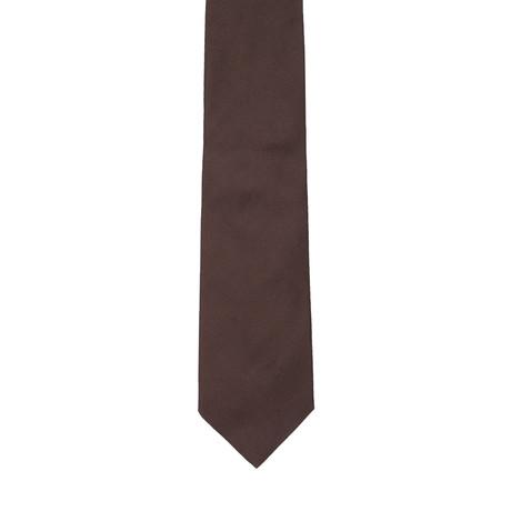 Borelli Napoli // Solid Tie // Brown