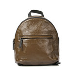Leather Backpack // Olive + Brown
