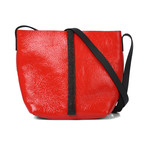 Leather Bucket Bag // Red