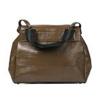 Saddle Handbag // Olive + Brown