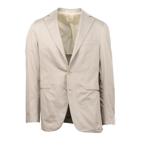 Cotton 3 Roll 2 Button Slim Fit Suit V1 // Tan (Euro: 44S)