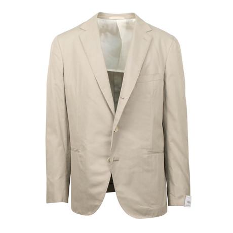 Cotton 3 Roll 2 Button Slim Fit Suit V2 // Tan (Euro: 44S)