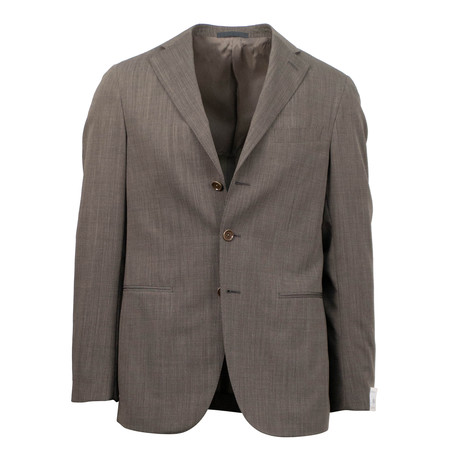 Wool 3 Roll 2 Button Slim Fit Suit // Brown (US: 44S)