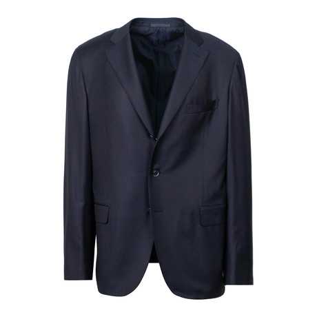 Wool 3 Roll 2 Button Slim Fit Suit V1 // Blue (US: 44S)