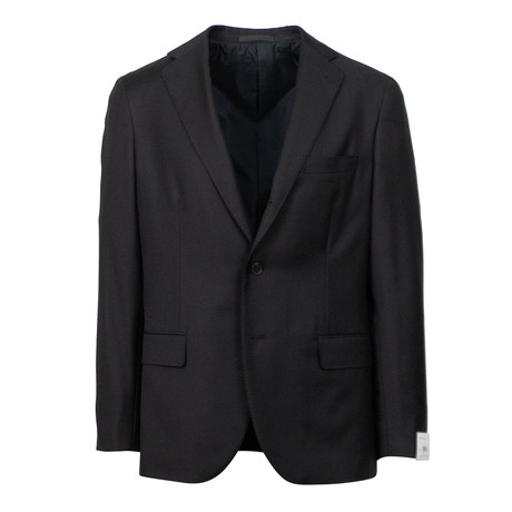 Wool 3 Roll 2 Button Slim Fit Suit // Black (US: 44S)