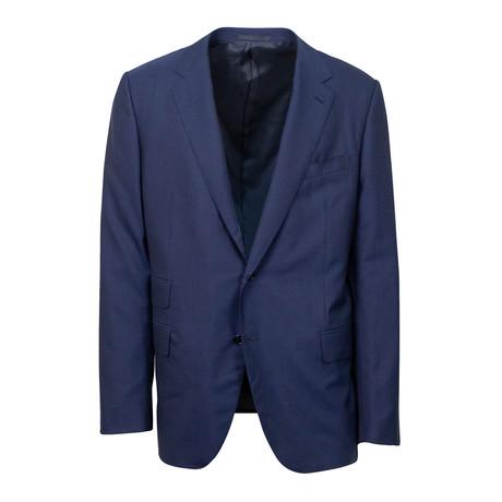 Wool 2 Button Slim + Trim Fit Suit // Blue (Euro: 44S)