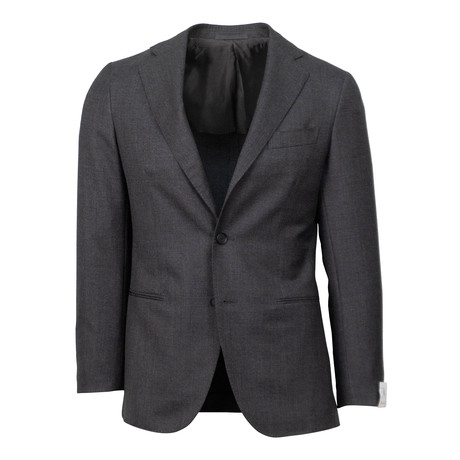 Wool 3 Roll 2 Button Slim Fit Suit V1 // Gray (Euro: 44S)