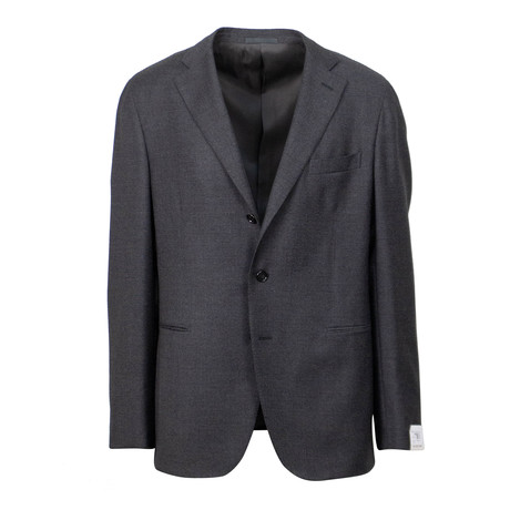Wool 3 Roll 2 Button Slim + Trim Fit Suit // Gray (US: 44S)
