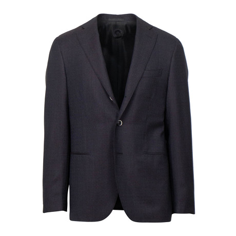 Wool 3 Roll 2 Button Slim Fit Suit // Purple (Euro: 44S)