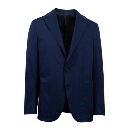 Cotton Blend 3 Roll 2 Button Suit // Blue (Euro: 44S)