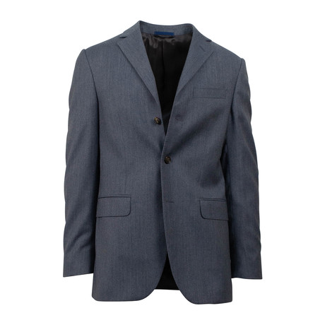 Wool 3 Roll 2 Button Classic Fit Suit // Slate (Euro: 44S)
