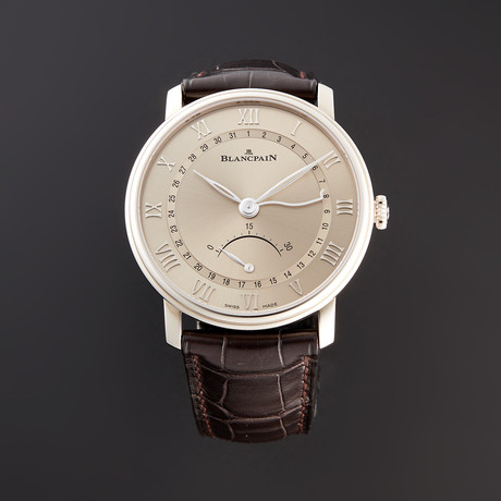 Blancpain Villeret Ultra Slim Date 30 Seconds Retrograde Automatic // 6653Q-1504-55B // Unworn