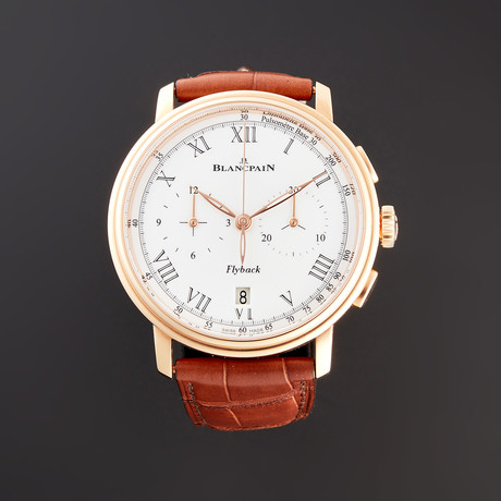 Blancpain Villeret Flyback Chronograph Pulsometer Automatic // 6680F-3631-55B // Unworn