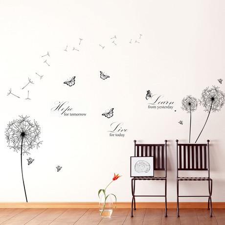 Dandelion Learn Live Hope Wall Sticker