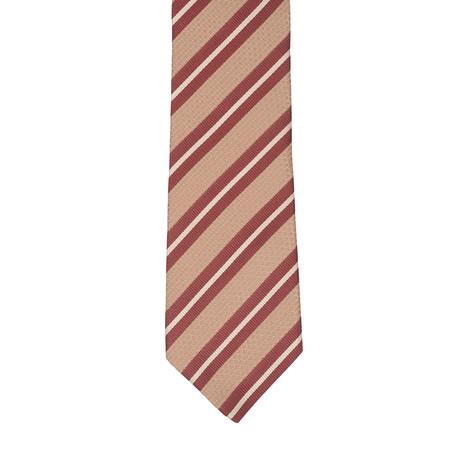 Borelli Napoli // Striped Tie // Red + Multicolor