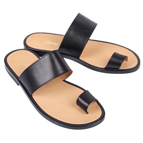 Single Strap Sandal // Black (Euro: 39.5)