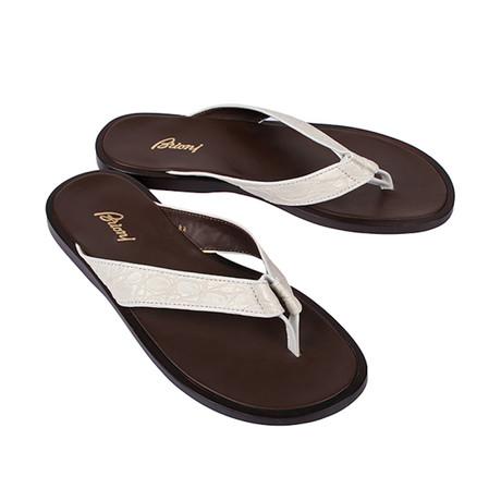 Crocodile Sandal // White (Euro: 39.5)