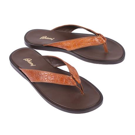 Crocodile Sandal // Brown (Euro: 39.5)