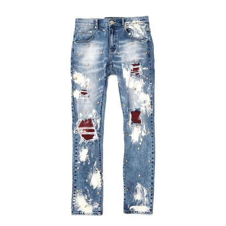 Lancaster Denim Jeans // Blue (30WX32L)