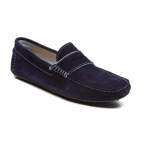 Sitman Suede Loafer // Blue (Euro: 39)