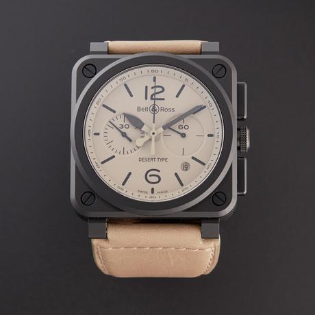 Bell & Ross Desert Type Chronograph Automatic // BR0394-DESERT-ICE // Pre-Owned