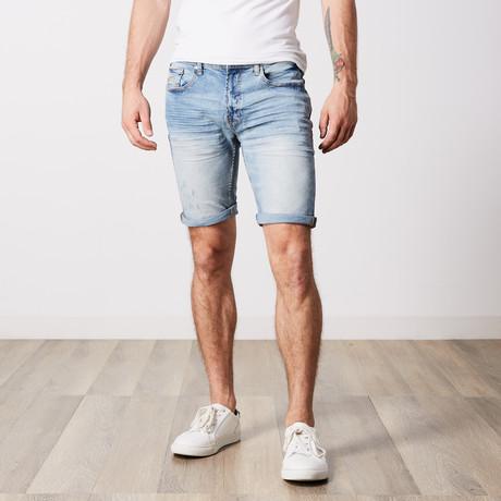 Roll Cuff Jeans Shorts // Medium Blue (30)