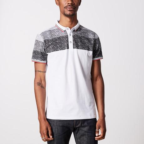 Striped Polo Shirt // White (M)