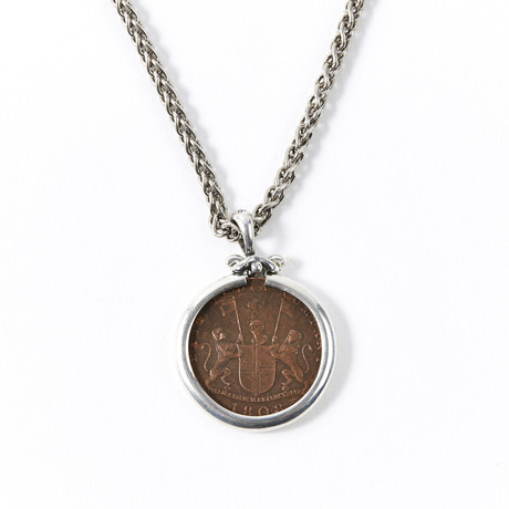 Shipwreck Treasure Coin // Silver Pendant