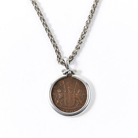 Shipwreck Tressure Coin // Silver Pendant